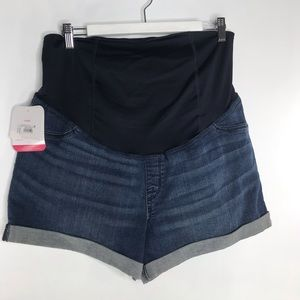NWT Maternity Midi Short with crossover panel